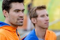 Tom Dumoulin (L) en Bauke Mollema. © ANP