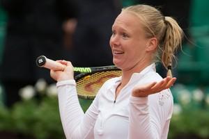Kiki Bertens kan het ook niet geloven: ze staat in de halve finale van Roland Garros. © Hollandse Hoogte