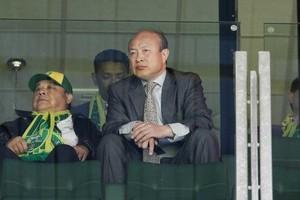 De Chinese eigenaar Hui Wang van ADO Den Haag op de tribune © ANP