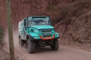 Gerard de Rooy in actie tijdens de vierde etappe van de Dakar Rally. © EPA