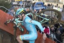Lars Boom tijdens de wereldbekerwedstrijd veldrijden in Heusden-Zolder © ANP
